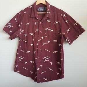 BOGO -Top Man Button Down Shirt, Size L